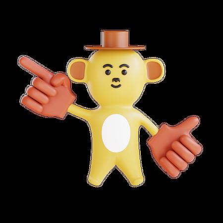 Monkey 3D Illustration