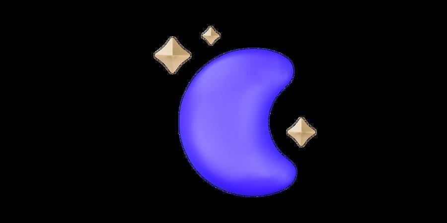 Moon 3D Illustration