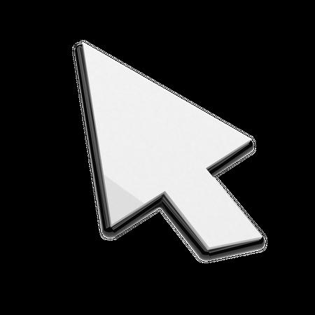 Mouse Arrow 3D Illustration