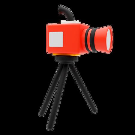 Movie Camera 3D Illustration