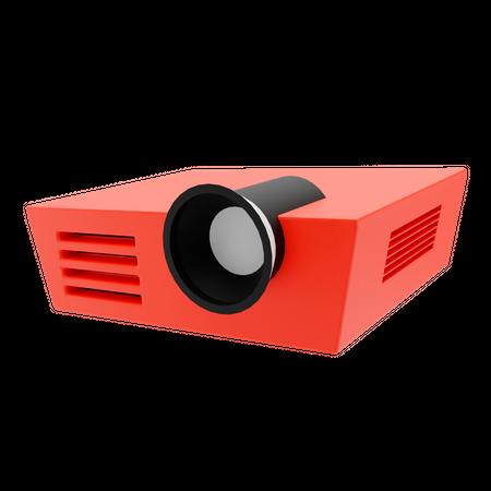 Movie Projector 3D Illustration