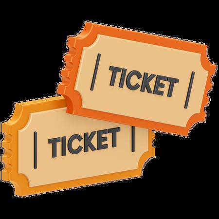 Movie Tickets 3D Illustration