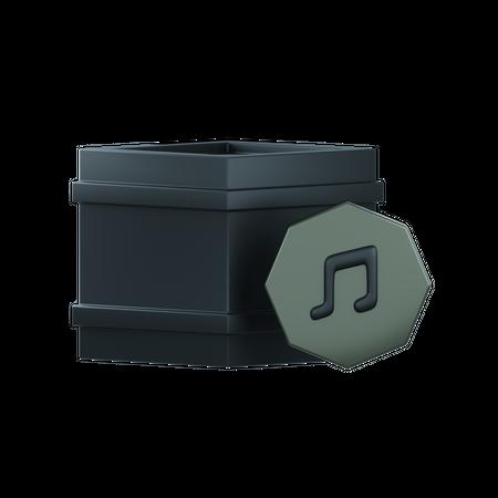 Music Nft 3D Illustration