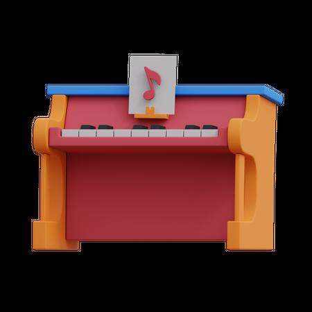 Music Piano 3D Illustration