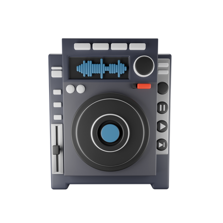 Music Player 3D Illustration