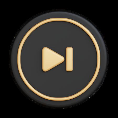 Music Skip 3D Illustration