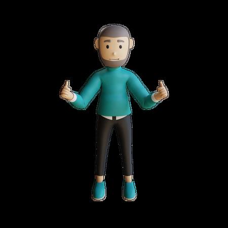 Muslim Businessman 3D Illustration