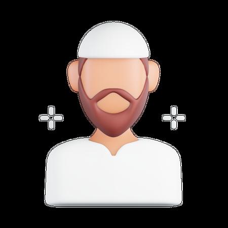 Muslim Man 3D Illustration