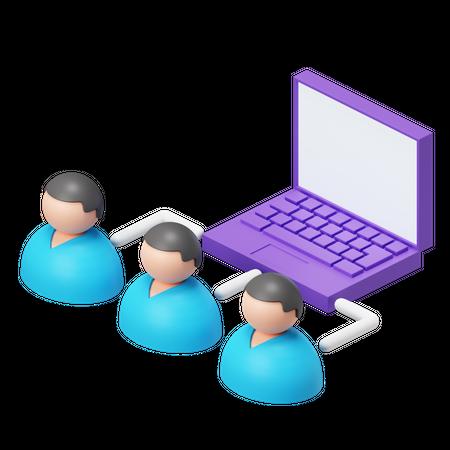 Network User 3D Illustration