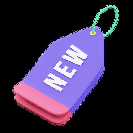 New Tag 3D Illustration