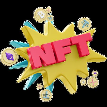 NFT 2-1 3D Illustration