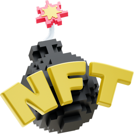 NFT 2 3D Illustration