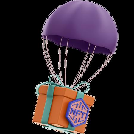 Nft Air Delivery 3D Illustration