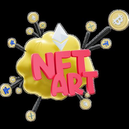 NFT ART 2 3D Illustration