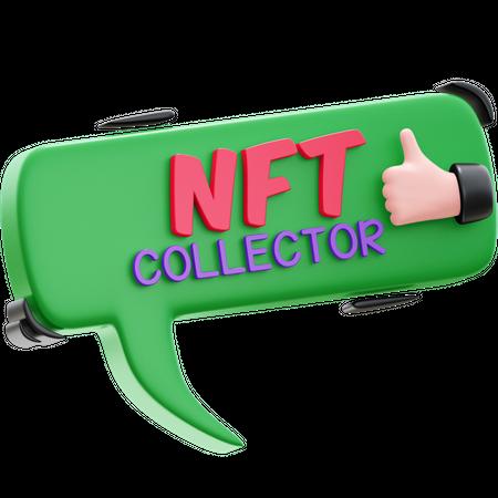NFT COLLECTOR 3D Illustration