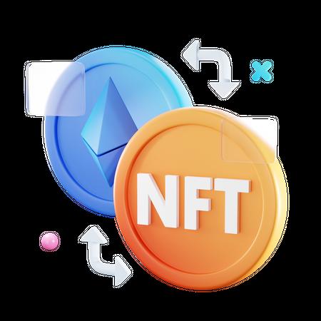 Nft Conversion 3D Illustration