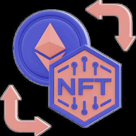 Nft Exchange 3D Illustration