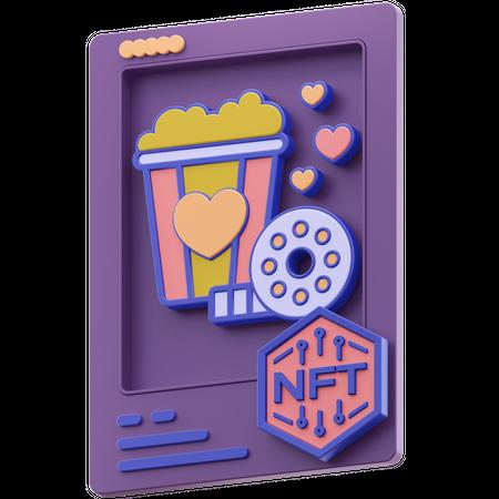Nft Film 3D Illustration