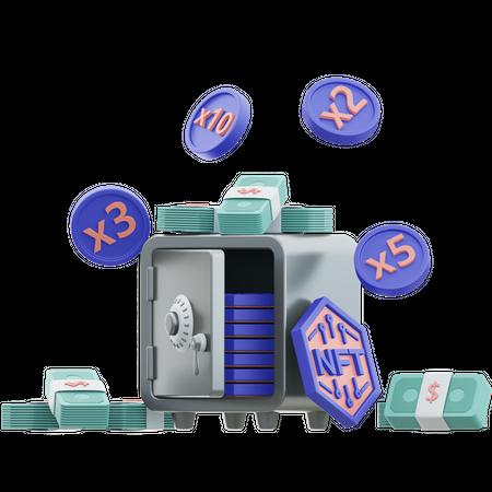Nft Locker 3D Illustration