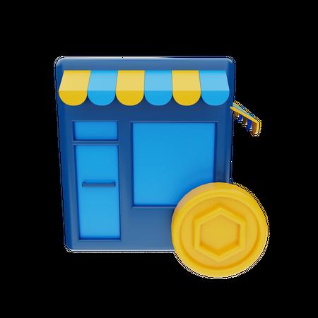 Nft Marketplace 3D Illustration