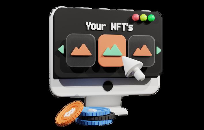 Nft Platform Website 3D Illustration