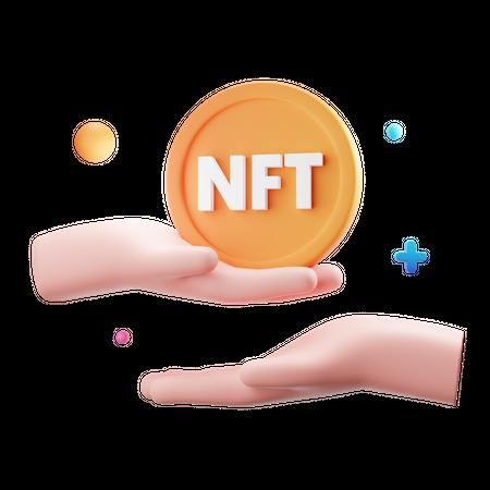 Nft Transfer 3D Illustration