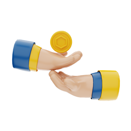 NFT Transfer Token 3D Illustration