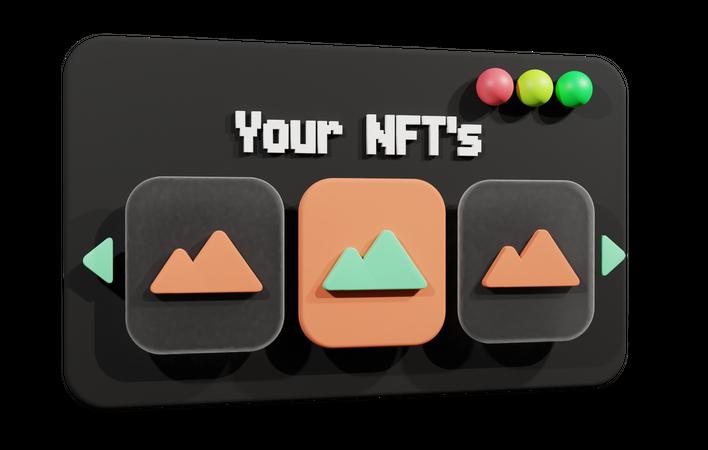Nft Website 3D Illustration