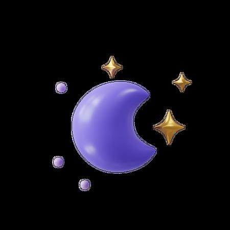 Night 3D Illustration