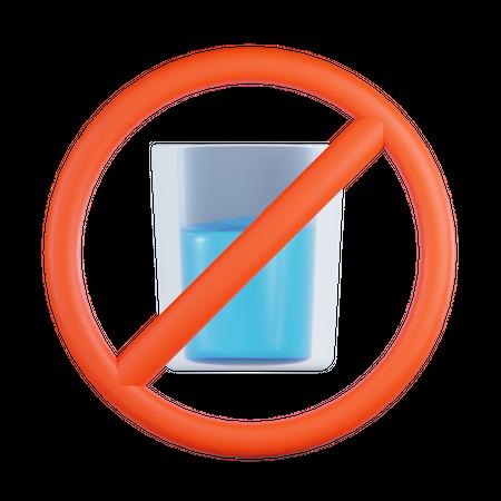 No Drink 3D Illustration
