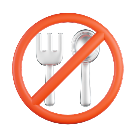 No Food 3D Illustration
