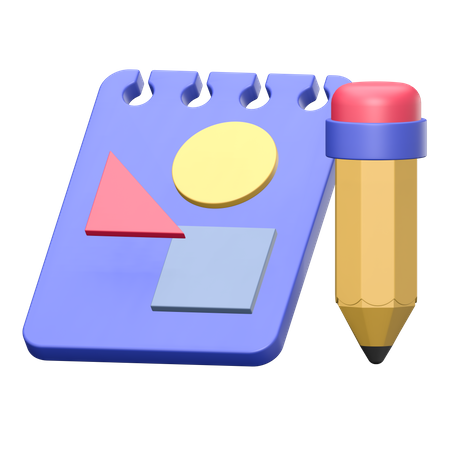 Notebook 3D Illustration