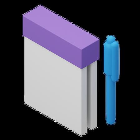 Notes 3D Illustration