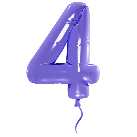 Number 4 3D Illustration