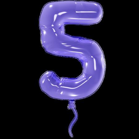 Number 5 3D Illustration