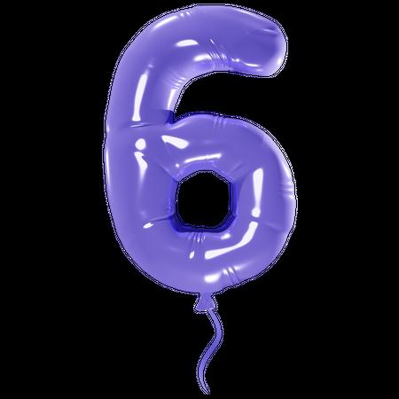 Number 6 3D Illustration
