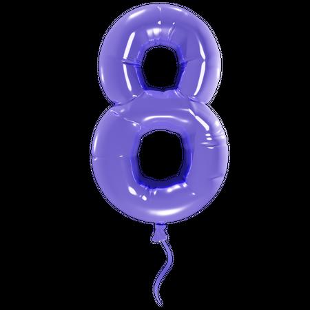 Number 8 3D Illustration