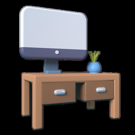 Office Desk 3D Illustration