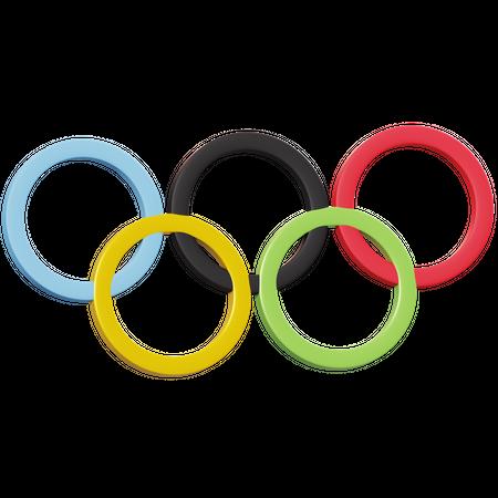 Olympic Logo 3D Illustration