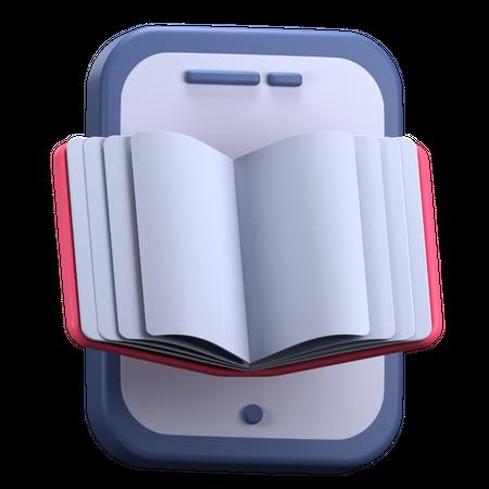 Online Book 3D Illustration
