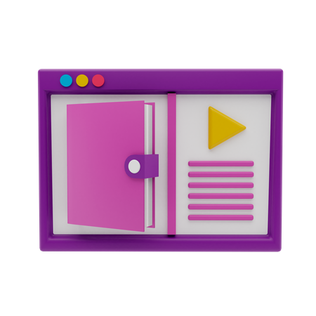 Online Class 3D Illustration