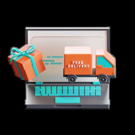 Online delivery 3D Illustration