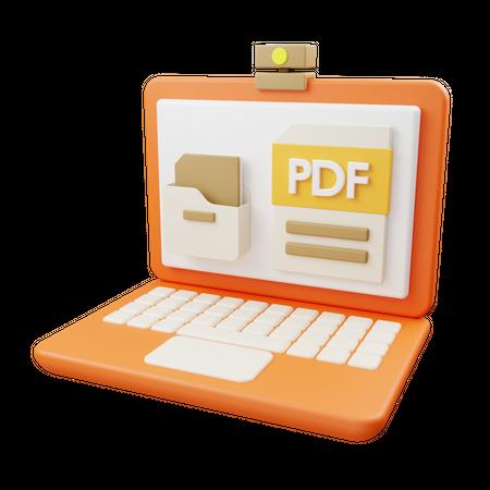 Online documentation 3D Illustration
