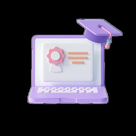 Online Graduation 3D Illustration