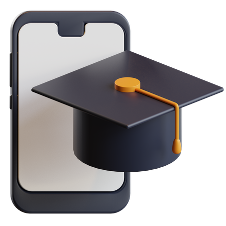 Online Learning App 3D Illustration