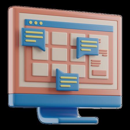 Online Learning On Computer 3D Illustration
