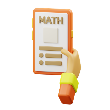 Online maths classes 3D Illustration
