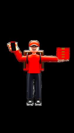 Online order delivery 3D Illustration