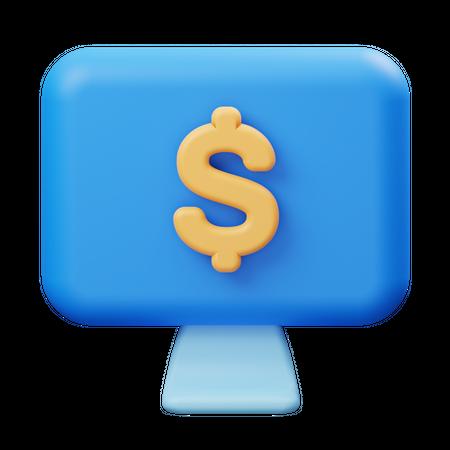 Online payment 3D Illustration