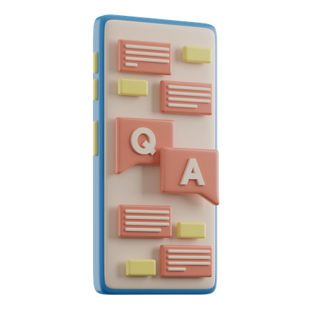 Online Question And Answer 3D Illustration